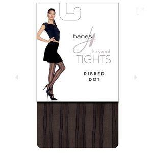 """Hanes Beyond Tights """"Ribbed Dot"""" (2 Pair)"""